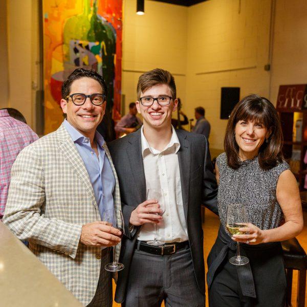 Guests enjoying wine at Quantum Leap