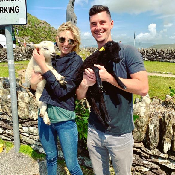 Allie and fiancé in Ireland