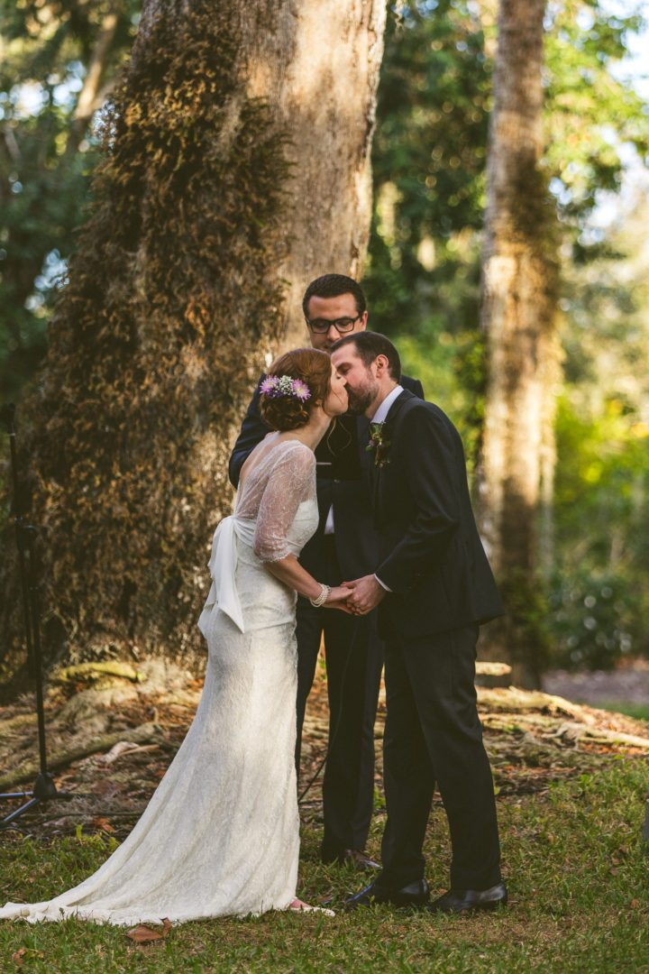 Wedding First Kiss Bride And Groom Wedding Planner Aisle Overeasy Events