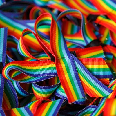Fundraising - rainbow ribbons